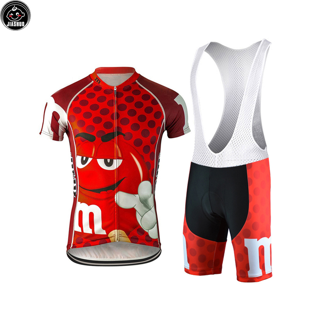 41f9247c7 Multi Chooses NEW Cartoon Candy Bike Team Red Pro Cycling Sets   Jersey   Shorts  Breathable Gel Pad JIASHUO