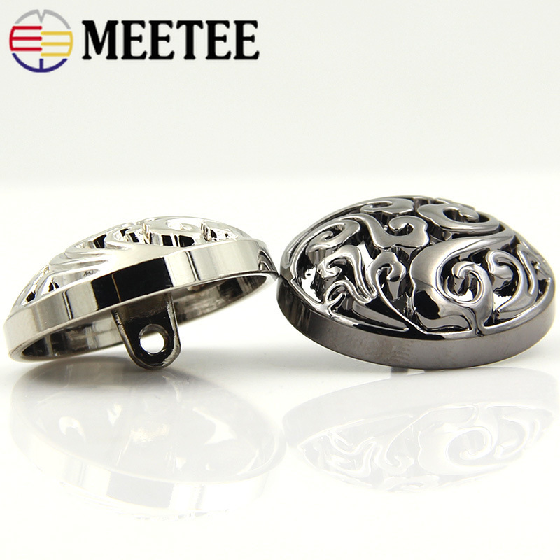 Meetee 20pcs Metal Buttons 12 25mm Decoration Buckles for Jeans Coat Jacket Button Sewing Clothing Accessories DIY Materials in Buttons from Home Garden