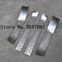 High quality stainless steel inside Scuff Plate/Door Sill Protector Sticker Car Styling For 2011 2017 VW Touareg