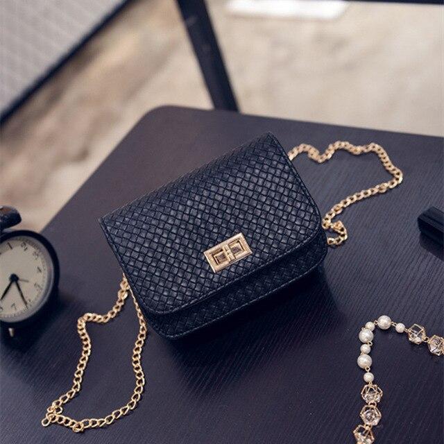 Новый красота женщины плеча сумочку дизайнер кожа щитка Crossbody сумка vintage женщины мини золотая цепь сумка