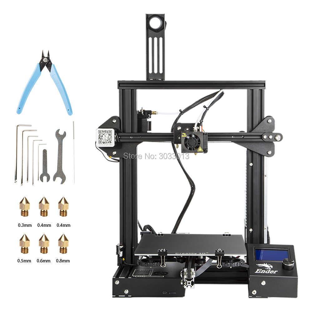 Ender-3 3D-принтер большого размера печати 220*220*250 мм Ender 3/Ender-3X переносной лежак i3 печать непрерывного отключения питания