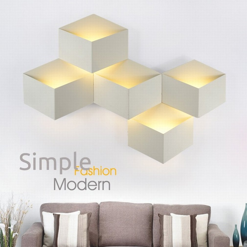 Nice LED Night Light Wall Lamp Creative Square Shape Wall Night Lights Home Office Decoration GiftsNice LED Night Light Wall Lamp Creative Square Shape Wall Night Lights Home Office Decoration Gifts