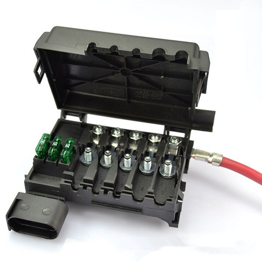 Car Battery Fuse Box Assembly For VW Beetle Jetta Bora Golf MK4 A3 Octavia Seat Leon aliexpress com buy car battery fuse box assembly for vw beetle 2002 vw jetta fuse box on top of battery at crackthecode.co