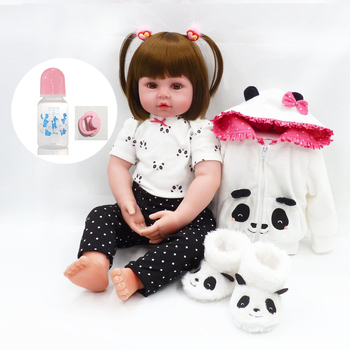 60cm girl bebe Soft Silicone Reborn Dolls Realistic Newborn Baby Girl For Sale Lifelike Baby Alive Doll Kids Playmate toy цена 2017