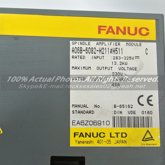 Used in good condition A06B-6082-H211#H511 Fanuc Servo Module  With Free Shipping a06b 6058 h223 used in good condition