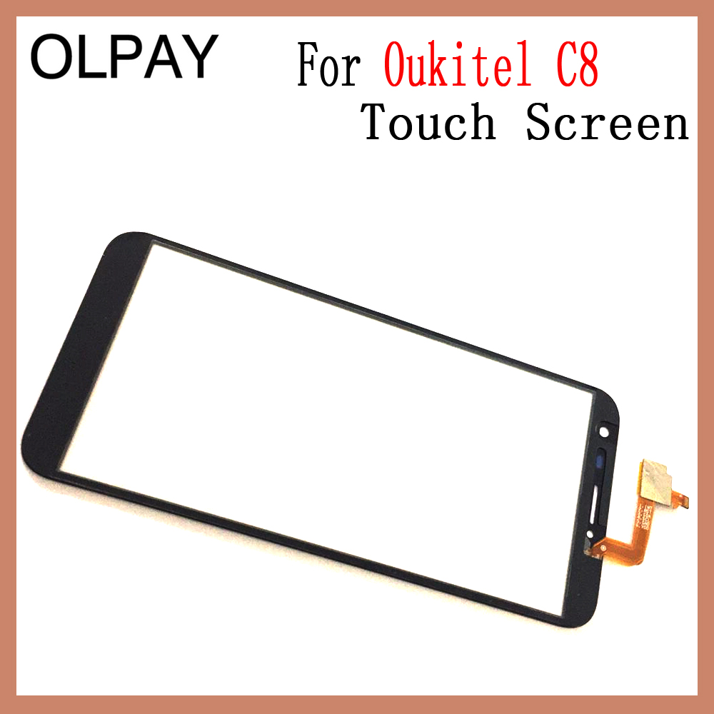 Image 4 - OLPAY 5.5'' Touch Glass Panel For Oukitel C8 Touch Screen Digitizer Glass Sensor Tools Free Adhesive+Clear Wipes-in Mobile Phone Touch Panel from Cellphones & Telecommunications