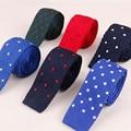 High Quality Nylon Silk 5cm Slim Knit Tie Business Dot & Anchor Necktie for Suit Wedding Party Neckwear Ties for Men Gravata