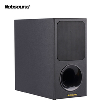 Nobsound SW 65 Wood 40W Full Range 5.5 inch Active Subwoofer Column Computer Speakers MP3