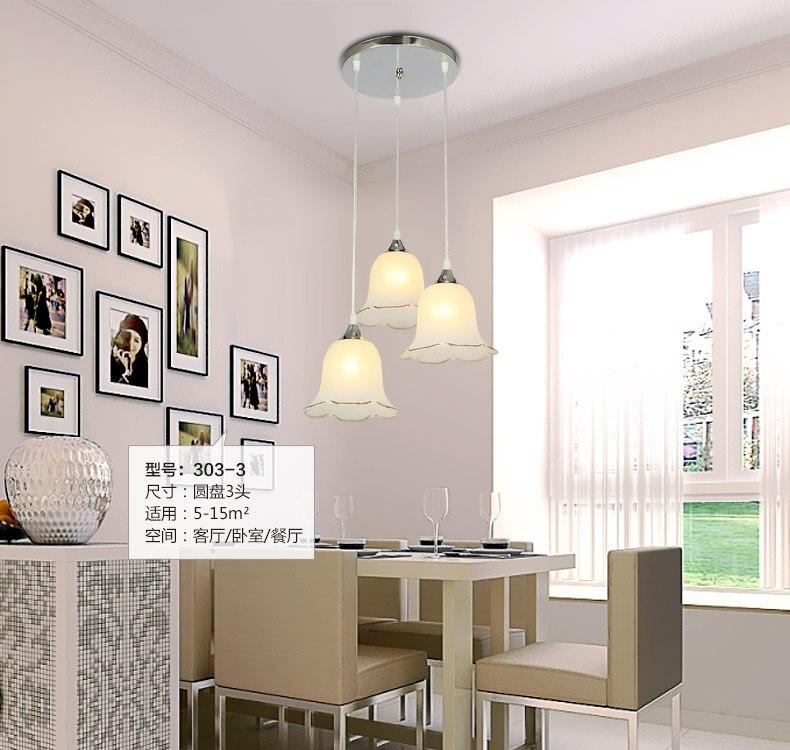 ФОТО A1 NEW Pendant Lights creative modern minimalist LED dining room light single and three head Pendant lamps