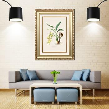 Artcozy Golden Frame Abstract  orchidaceae de mexico Waterproof Canvas Painting