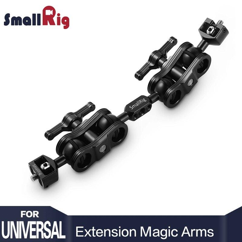SmallRig Double En Aluminium Caméra Articulation Bras Magique Joby Extension Bar pour Armes Magiques (1/4 Vis) DSLR Monitor Support
