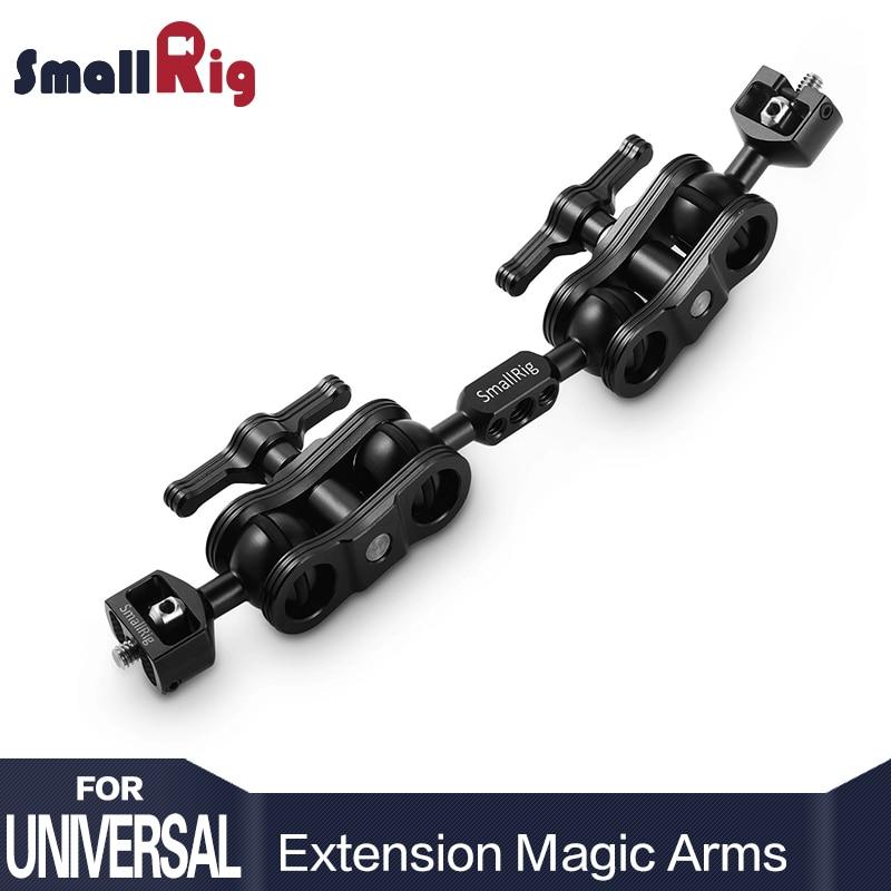 SmallRig Double En Aluminium Caméra Bras Articulé Joby Extension Bar pour Armes Magiques (1/4 Vis) DSLR Monitor Support 2109