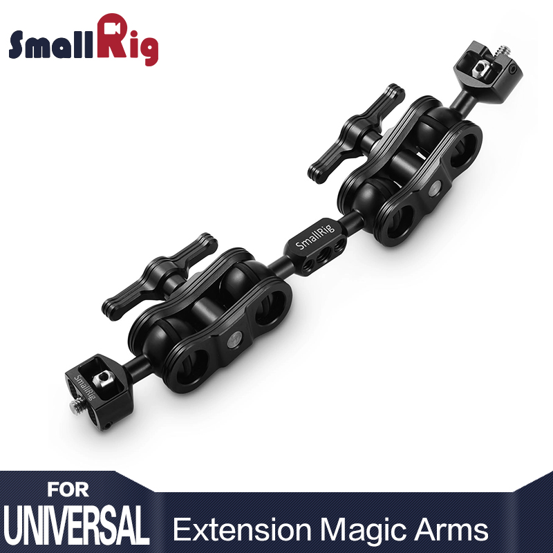 SmallRig Dual Aluminum Camera Articulating Magic Arm Ballhead Extension Bar for Magic Arms (1/4