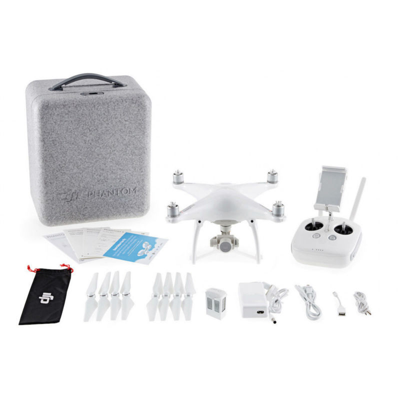 Fast Drop Shipping 100% Original Brand New DJI Phantom 4 RC Drone W/ 4K 3-Axis Camera + Useful Gfits Via EMS