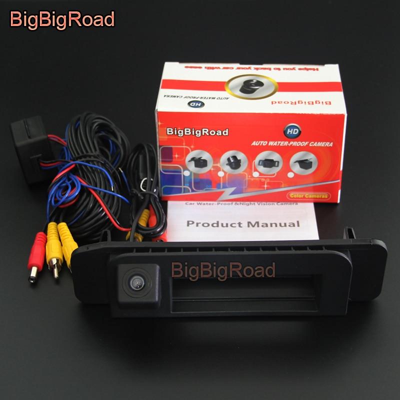 BigBigRoad Car Trunk Handle Rear View Camera For Mercedes Benz C Class MB W205 C180 C200 C280 C300 C350 CLA Class C117 2015 2018