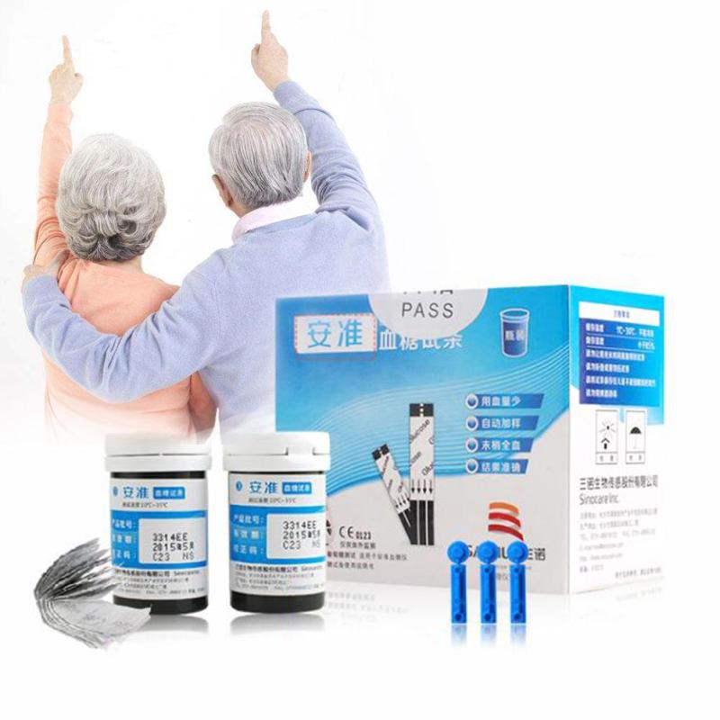 Blood Glucose Accessories Test Strips 50PCS And 50PCS Lancets Diabetic Blood Collection Medical Tools Glucosemeter Body Care L3