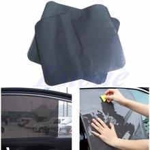 цена на 2Pcs Car Rear Window Side Sun Shade Cover Block Static Cling Visor Shield Screen Free Shipping