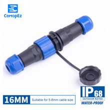 Waterproof Connector SP16 Type IP68 Cable Connector  Plug & Socket Male And Female 2 3 4 5 6 7 9 Pin SD16 16mm waterproof connector aviation plug sp16 type ip68 cable connector socket male and female industry wire cable 2 3 4 5 6 7 9 pin