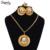 Etíope NUEVOS Sistemas nupciales de la joyería Hipoalergénicas Mujeres 24 k oro Africano set/Nigeria/Sudán y Eritrea/Kenia/estilo Habesha A30043