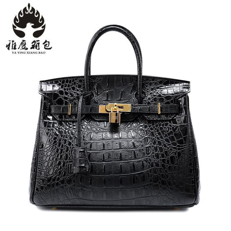 Brand Women Handbag Genuine Leather Tote Bag Female Classic Crocodile Pattern Prints Shoulder Bags Ladies Handbags Messenger Bag soar women leather handbags large women bag shoulder bags ladies brand alligator crocodile pattern hand bags tote female blosa 3