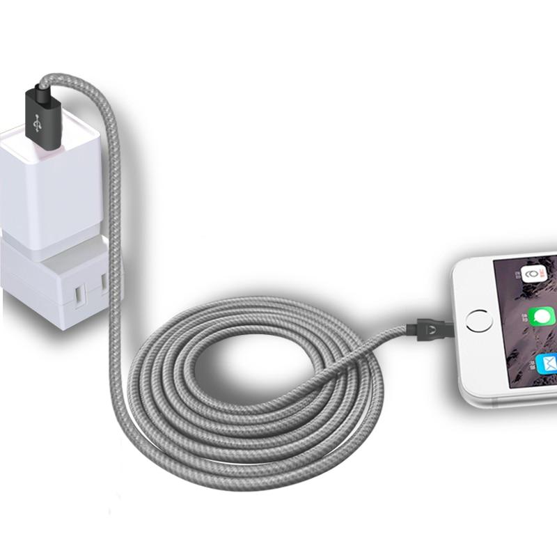 Snowkids 2m 3m Grey Strong Cable για iPhone X 8 7 6 5 XR Xs XsMax - Ανταλλακτικά και αξεσουάρ κινητών τηλεφώνων - Φωτογραφία 5