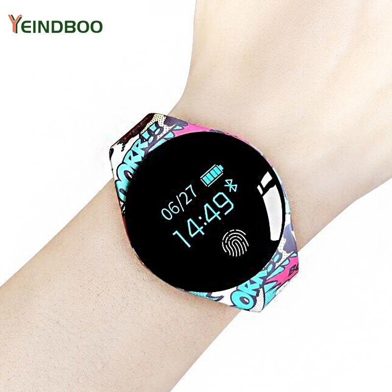 Tela colorida Sensível Ao Toque Smartwatch Relógio Das Mulheres Dos Homens Do Esporte Da Aptidão Wearable Dispositivos de detecção de Movimento Inteligente Para IOS Android