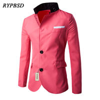 3 Colors New Fashion Casual Blazers Mens Clothing Pure Color Slim Fit Business Men Blazers Men Dress Suit Jackets