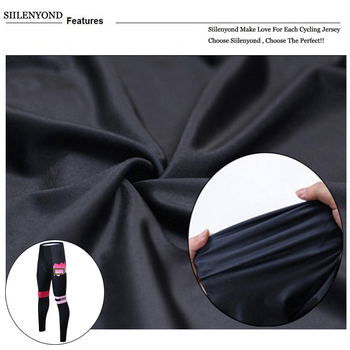 Siilenyond 2019 Winter Cycling Pants Shockproof Thermal Cycling Bicycle Trousers Keep Warm MTB Bike Cycling Tights For Women 4