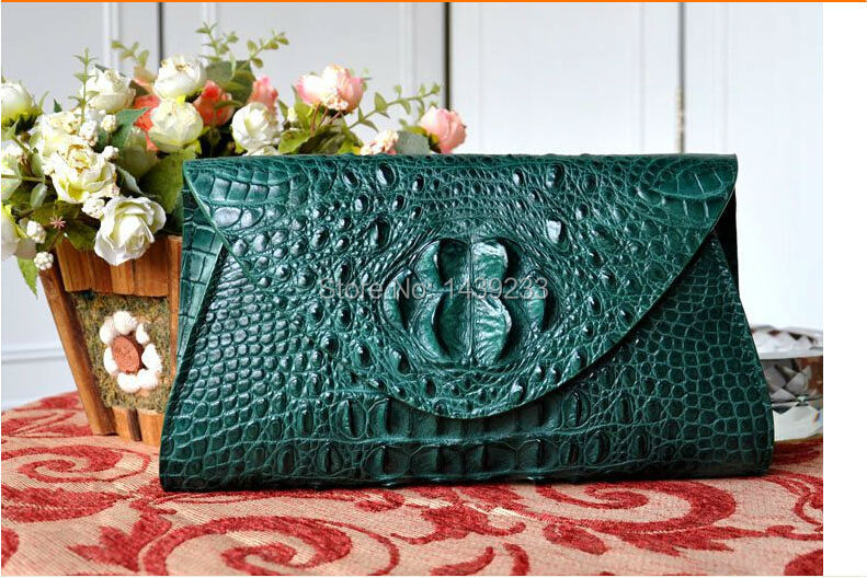 купить 100% genuine crocodile skin leather handbag, alligator skin women clutch shoulder bag , fashion women clutch bag shoulder bag по цене 19798.43 рублей