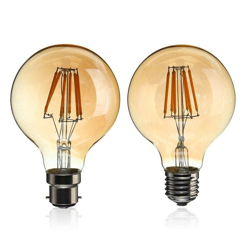 Smuxi Edison Bulb E27 B22 220V 6W G80 Retro Lamp Filament Edison Lamp Incandescent Light Bulb Ampoule Vintage Lamp For Decor vintage edison bulb g80 g95 st64 e27 220v 40w retro lamp vintage light bulb edison lamp incandescent light decor filament