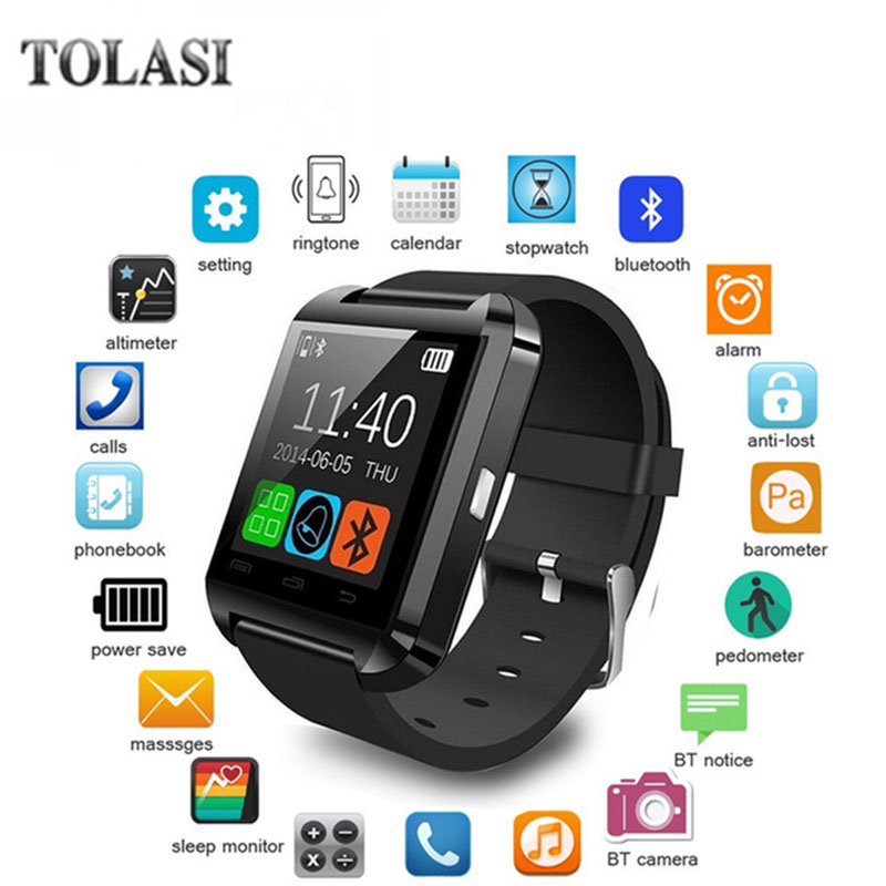 TOLASI Sportwatch U8 SmartWatch Bluetooth Smartwatch Touch Screen Wrist Watch , Waterproof Smart Watch Women цена и фото