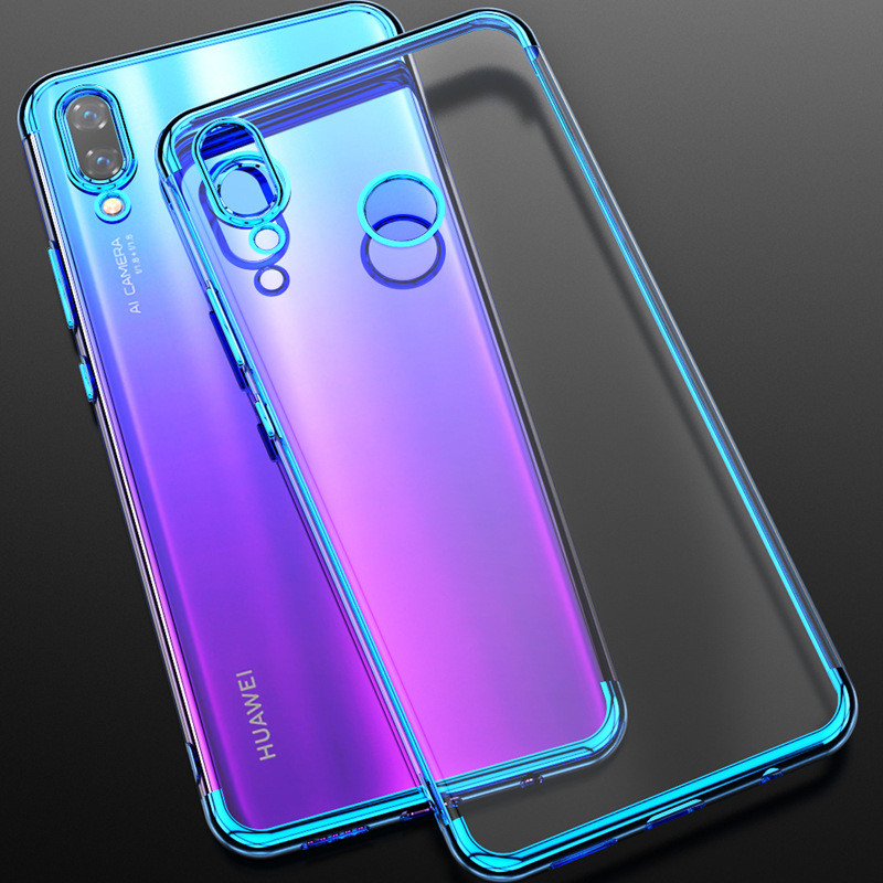 For Huawei P Smart 2019 Protection Phone Case for Honor 10 10 lite Plating Soft Case for Huawei P Smart Transparent Case Cover image