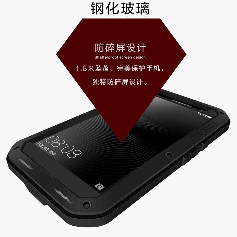 Pour Huawei Mate 8 étui de protection hybride blindé boîtier étanche Fundas boîtier étanche à l'eau/saleté/choc/pluie pour Huawei Mate 9 - 4