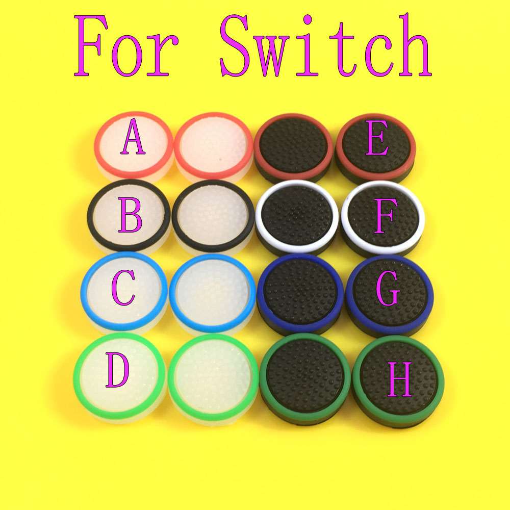 Jing Cheng Da 500PCS Luminous Silicone Analog Controller Joystick Cap Cover for Nintendo Switch Joy-Con Thumb Stick Grips