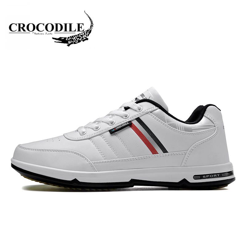 Crocodile 2018 Men Running Shoes New Thickness Bottom Male Jogging Sneaker Breathable Light for Mens Travel Athletic Sport Shoes 2017 new spring imported leather men s shoes white eather shoes breathable sneaker fashion men casual shoes