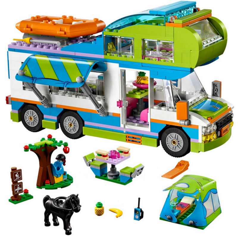 Lepin 01062 Best Friends Mia Camper And Motorhome Caravan Building Blocks Compatible LegoINGly friends 41339 for girl цена