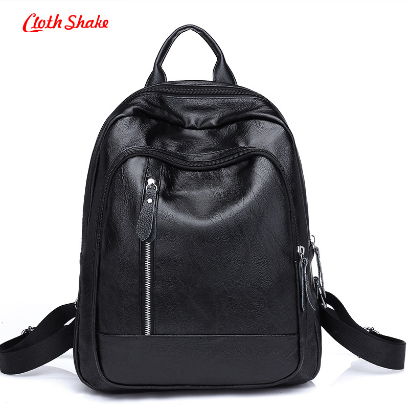 New Designer Women's Backpacks PU Leather Female Backpack Women School Bag For Girls Large Capacity Shoulder Travel Mochila цена и фото
