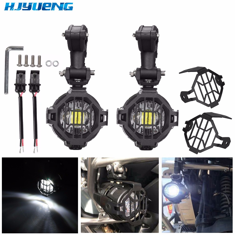 for Led Driving Lights for BMW R 1200 GS Adventure LC 2014 2015 2016 Motorcycle Accessories Parts For BMW R1200GS Front Brackets
