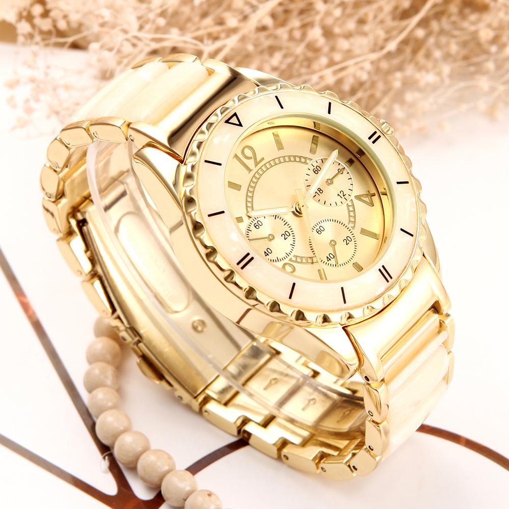 Prix pour Femmes quartz montre nouveau design marque bracelet style montre horloge 2016 de luxe or Céramique Dames Montre-bracelet pour femmes de mode