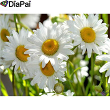 DIAPAI 100% Full Square/Round Drill 5D DIY Diamond Painting Daisy flower Embroidery Cross Stitch 3D Decor A21055