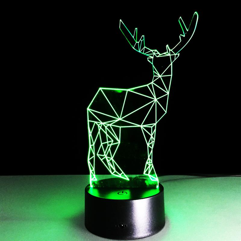 3D Table Lamp Creative Acrylic Small Deer LED Night Light 7 Colors Changing Atmosphere Decoration Table Lamp For Children new 3d table lamp creative acrylic mickey mouse led night light colorful atmosphere decoration table lamp for children iy803325