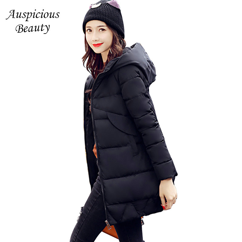 2017 Fashion Long Sleeve Zipper Cardigan Hoodies Cotton Coats Women Winter Warm Thicken Casual Parkas Overcoat Female WT2257 warm thicken baby rompers long sleeve organic cotton autumn
