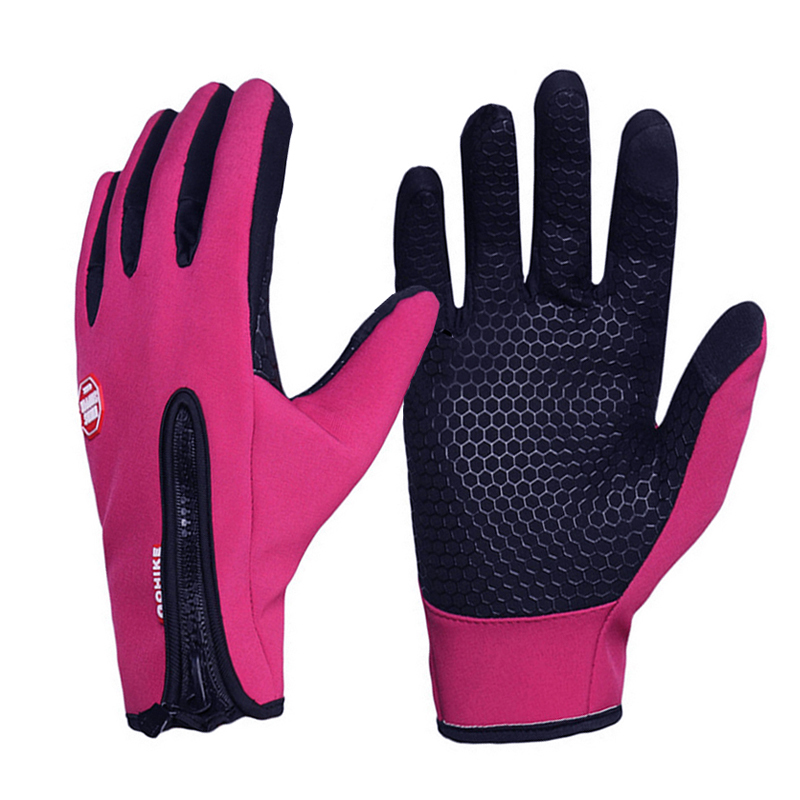 Upgrade Touch Screen Horse Riding Gloves For Men Women Child Equestrian Riding Gloves Black And Rose Size S/M/L/XL