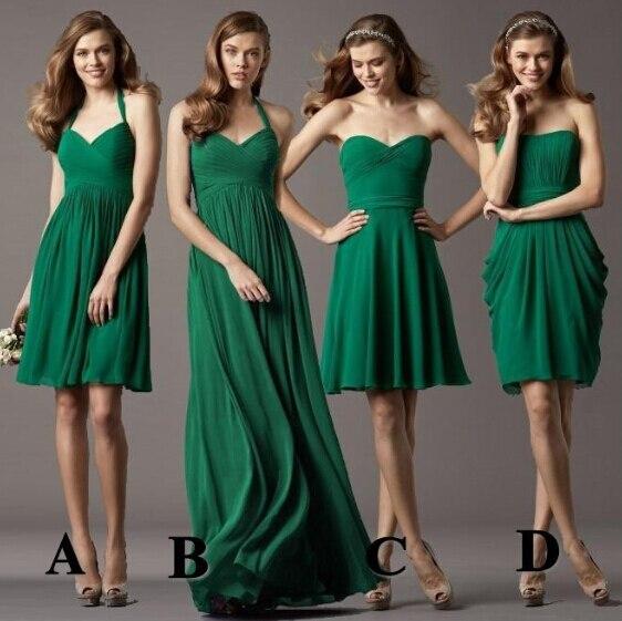e2e05b2d43 Novia De gasa con volados verde esmeralda Vestidos dama barato Vestido De  Festa Longo Azul Turquesa Vestidos Longos en Vestidos de dama de honor de  Bodas y ...