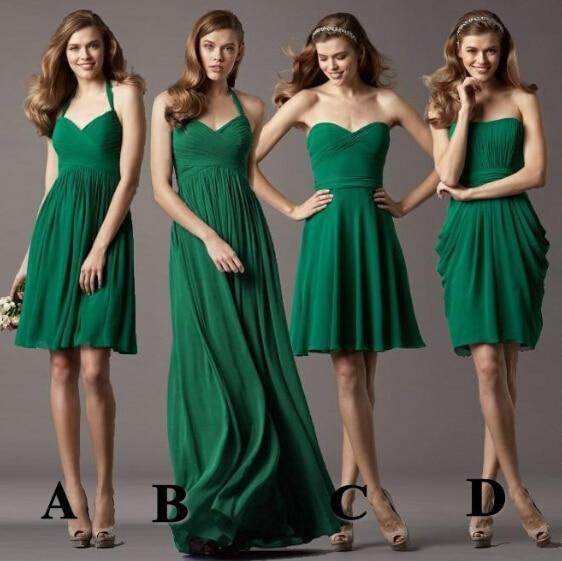 b6e058e2577d Sweetheart ruffle chiffon verde smeraldo abiti da damigella d  39 onore  vestido de festa