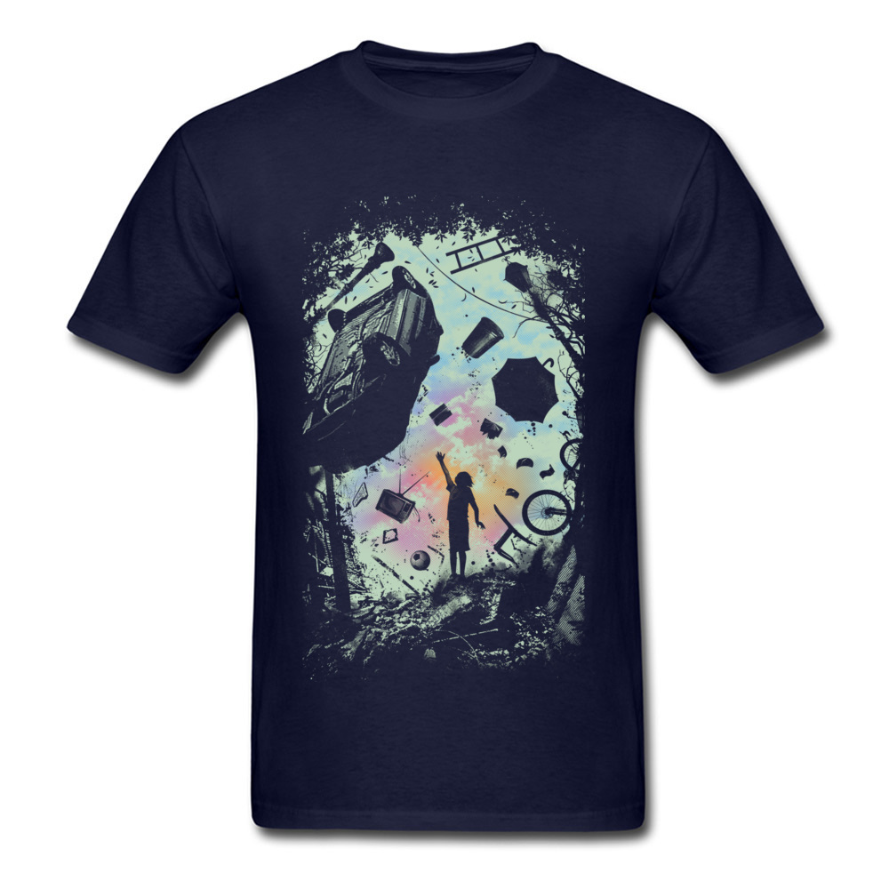 Gravity Play Special Short Sleeve Design T Shirts Cotton Fabric O Neck Mens Tops Shirts Casual Top T-shirts Summer Gravity Play navy