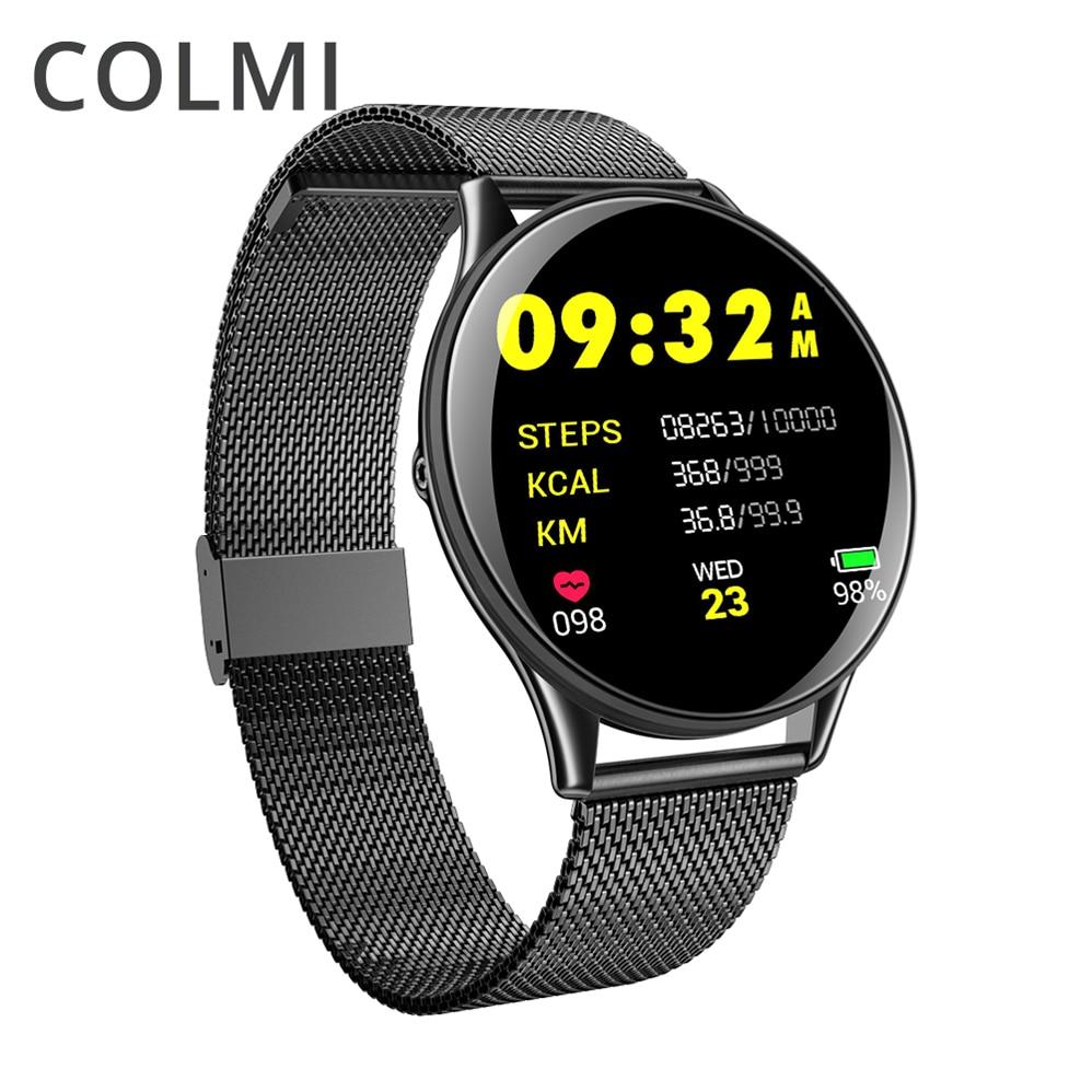 Homens COLMI VK6 ip68 À Prova D' Água Relógio Inteligente Monitor de Freqüência Cardíaca Atividade BRIM Das Mulheres Dos Homens de Fitness Rastreador Smartwatch Android ou IOS
