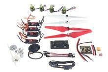 F11118-B DIY 4 eje GPS Mini Drone Piezas Kit ARF: Simon ESC Motor sin escobillas EMAX 9443 Nylon Hélices GPS con Brújula
