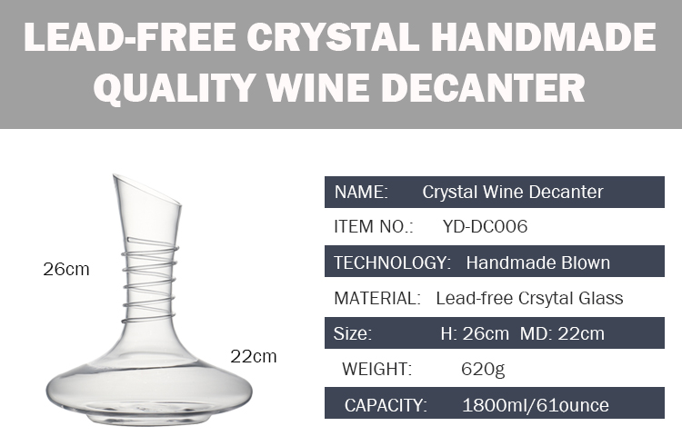 Aliexpress Buy 61 Ounce Lead Free Crystal Glass Wine Decanter