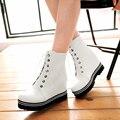 2016 new fashion women boots autumn winter women Platform boots Women flats shoes lace up high heels ankle boots